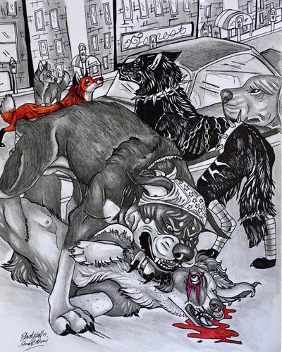 Street brawl by pladywolf82