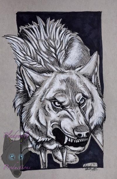 White wolfen by pladywolf82