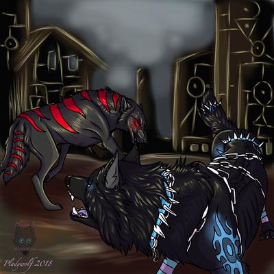 Kurami and plady  by pladywolf82