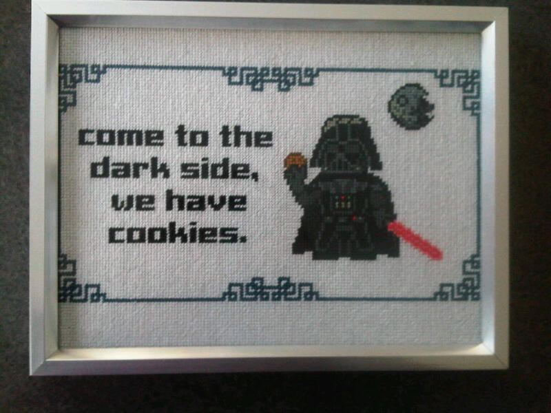 vader star wars cross stitch