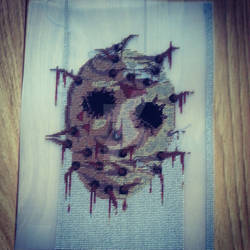 Jason Voorhees Cross Stitch / Needlepoint WIP