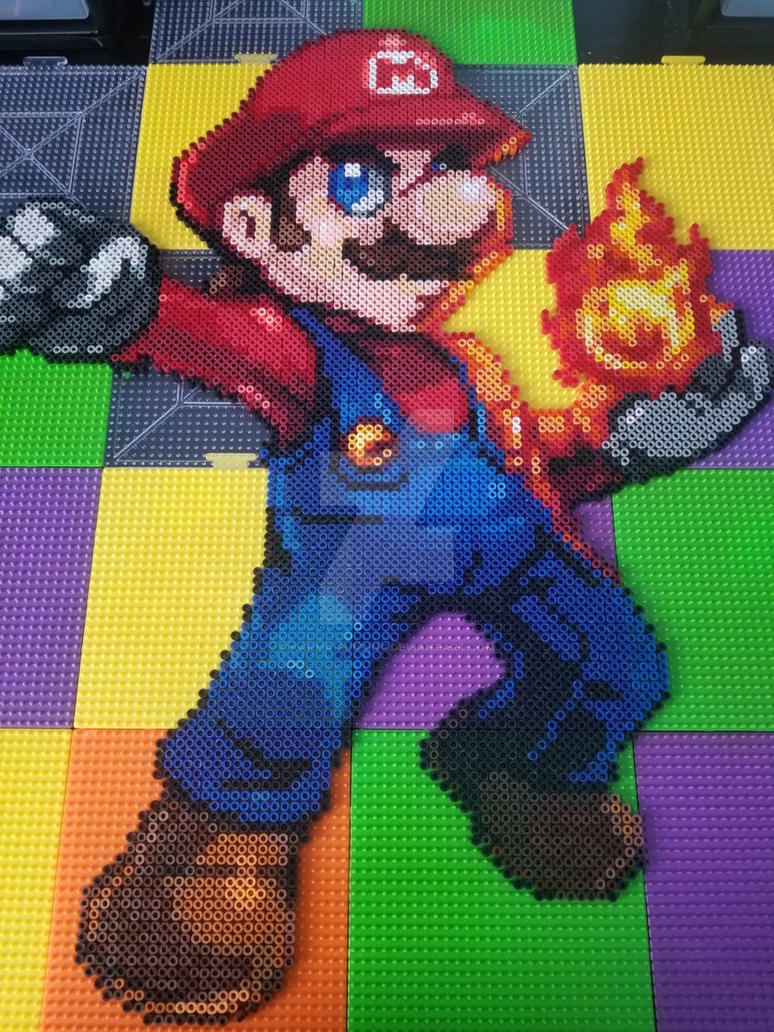 Super Mario Bead Sprite by Karma-Pudding
