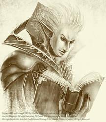 Dark-Elf priest by Takamine-t