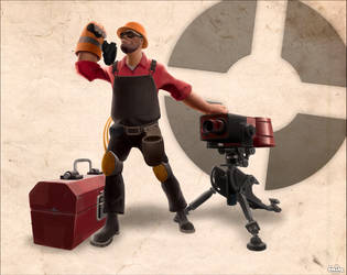 Team Fortress 2: Engineer by freddre