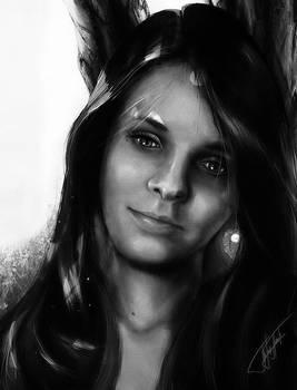 Maja BnW portrait