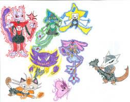 Pokemon Lanterns by DarkfireTaimatsu