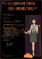 Halloween Town   April Job Application
