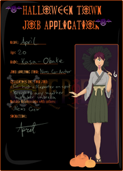 Halloween Town | April Job Application