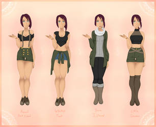 OP | April Pre-Timeskip Outfits [1/4] by Mangasia