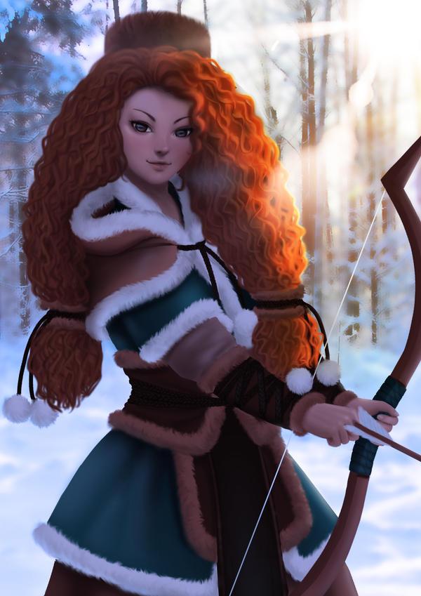 Merida Fanart[Brave] by IAI-HOSHI