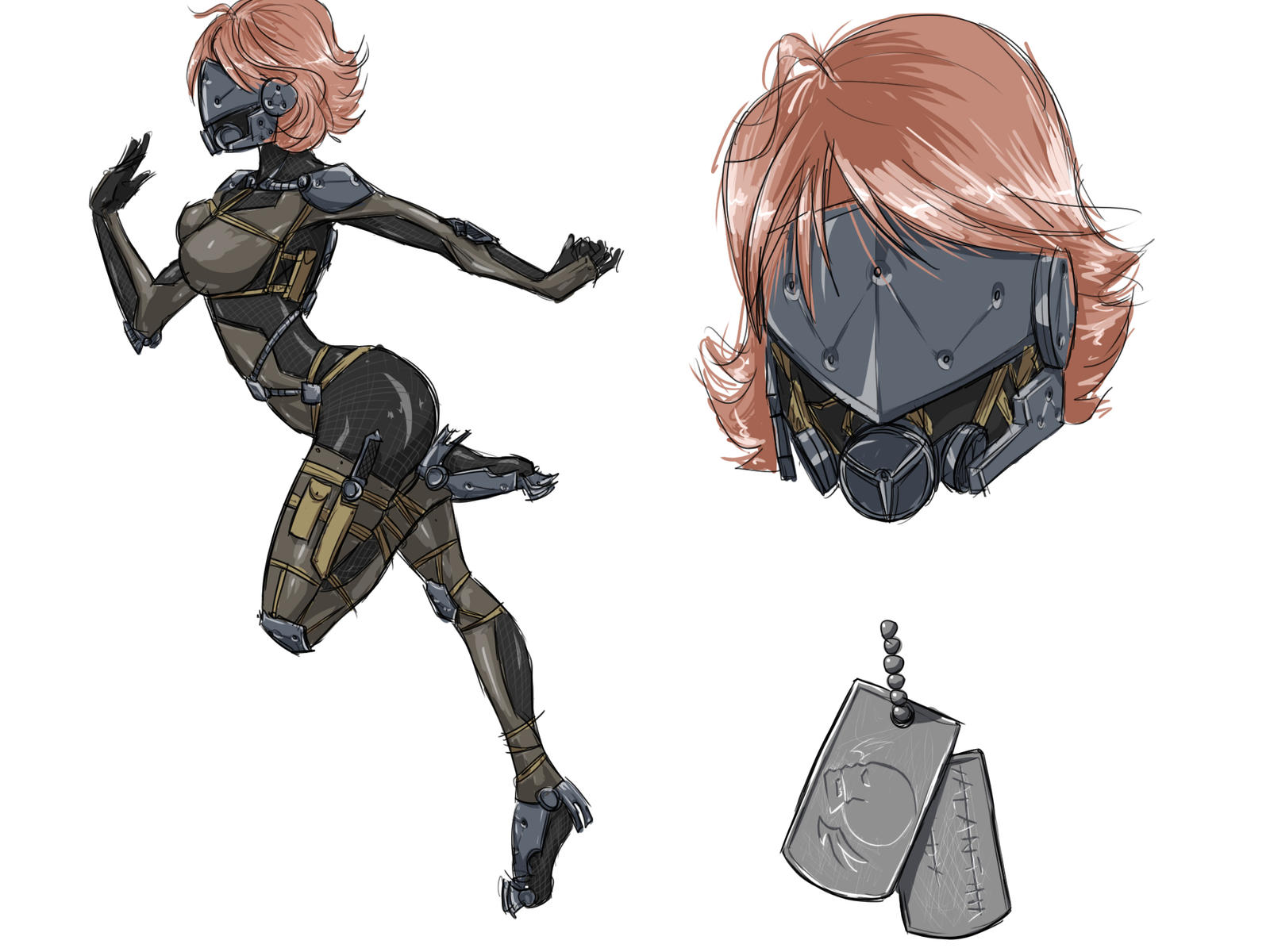 Female Cyborg (MGS Style) by KuHeilah on DeviantArt