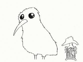 Kiwi Bird by Luiswalker