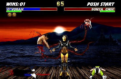 MKX: D'Vorah vs Sonya and Johnny by blacksaibot
