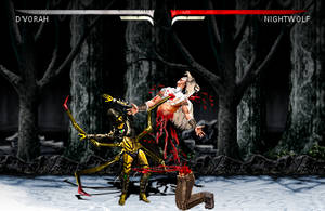 D'Vorah vs Nightwolf by blacksaibot