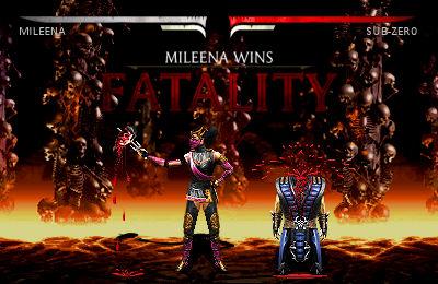 Mileena's Face Feast Fatality