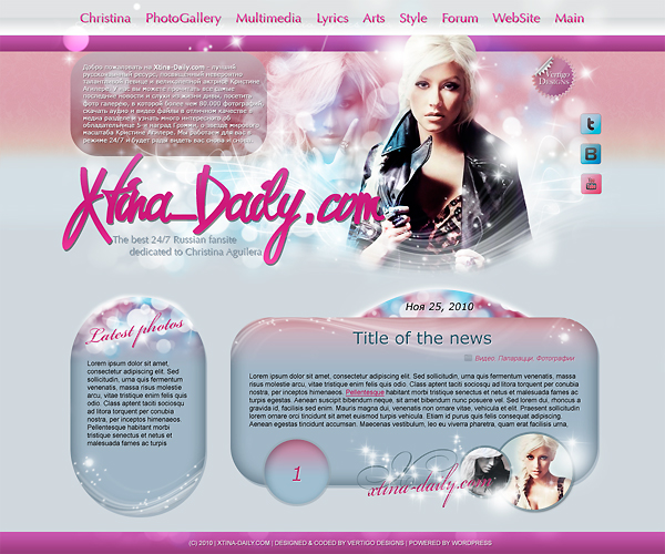 christina aguilera by fionaadam d33snhw Creatively Inspired Web Interface Designs