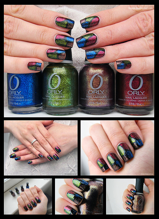 Stained glass nail-art by fionaadam