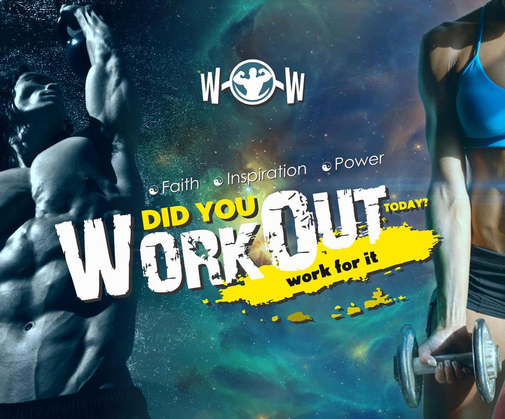 Poster Design For WOW Fitness Club By Vijayarani