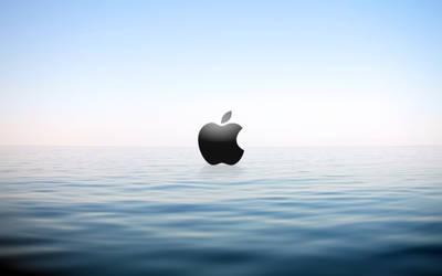 Apple on water by SilverDragon744