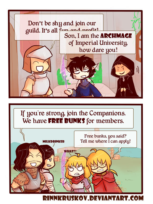 Skyrim - Guild Benefits by RinnKruskov