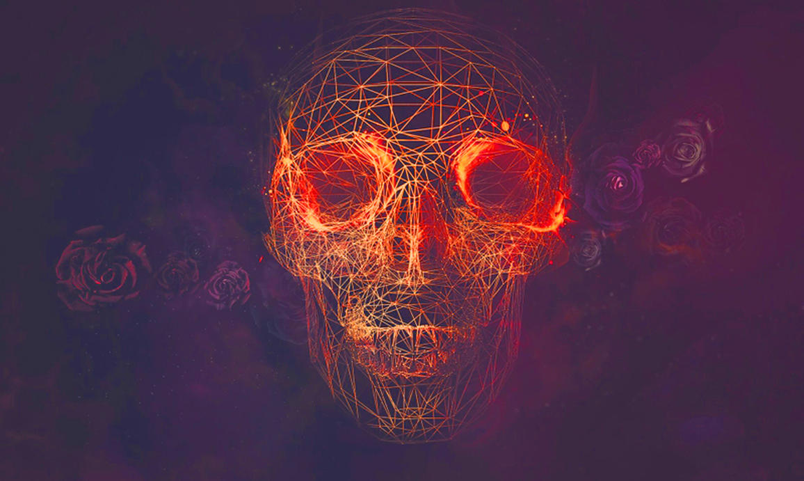download abstract skull 320x480 - photo #8