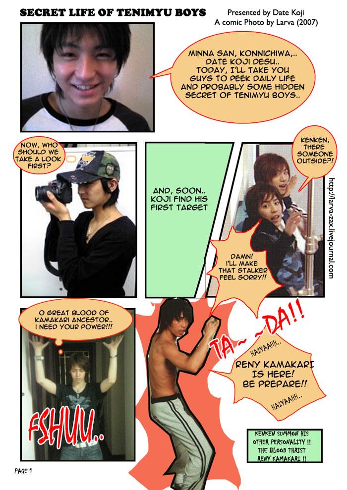 CrackPhoto comic teniMyu page1 by AcherontiaStyx-larva