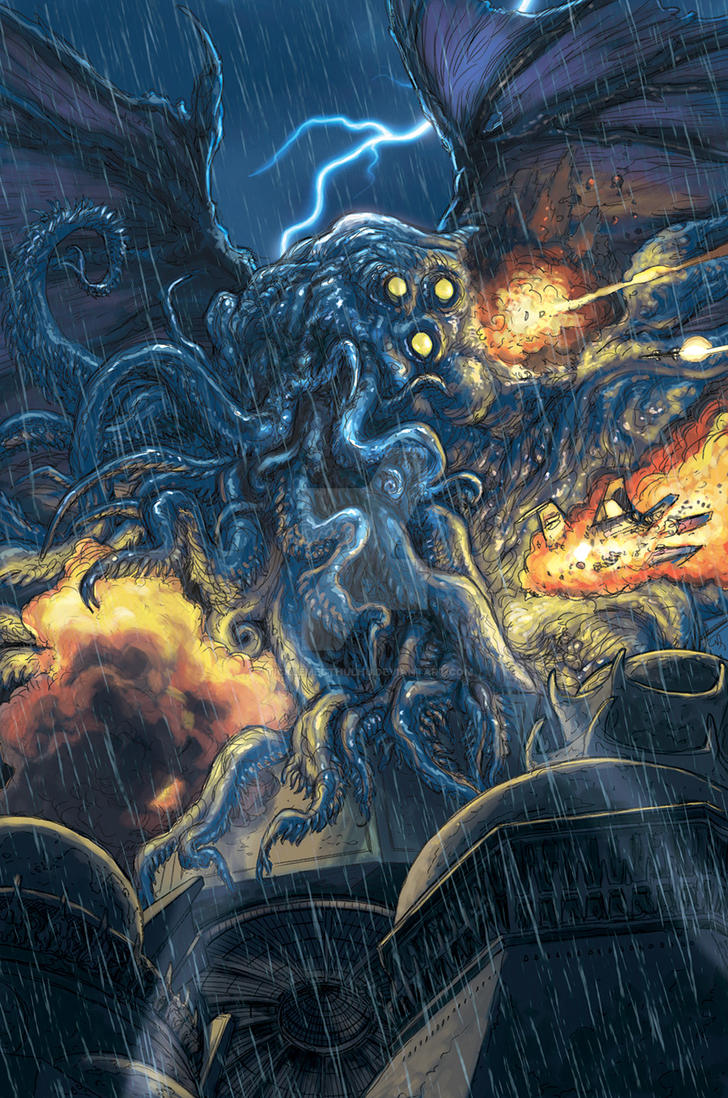 Cthulhu Emergent by TickleMeCthulhu