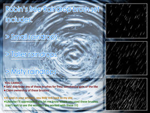 Raindrop Brush Set (Photoshop CS series)