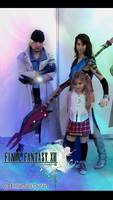Snow, Serah and Fang cosplay
