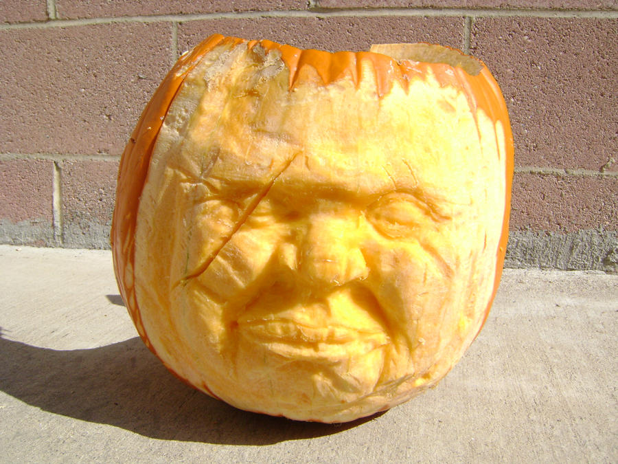 Pumpkin face carving by b1938dc on deviantart for Surprised pumpkin face