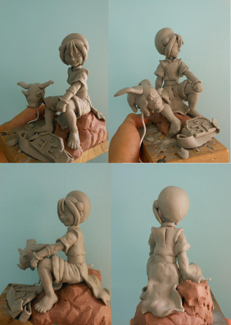 Toph sculpture update 2 by b1938dc