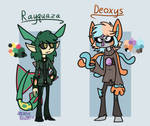 .:Pokemon/ref:. Humanized Rayquaza and Deoxys