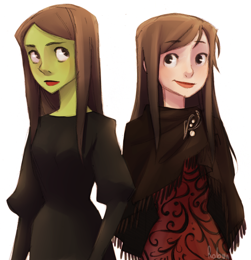 Harry Maguire Wallpaper: Elphie And Nessa By H-Robun On DeviantArt