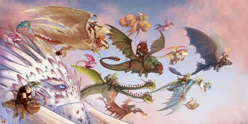 Dragon Parade by h-Robun