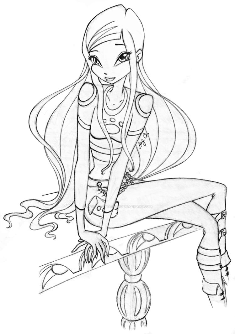 roxy moshling coloring pages - photo#4