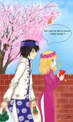 (APH)Fem!America X Male!Vietnam - Happy new year by madisoncamellia