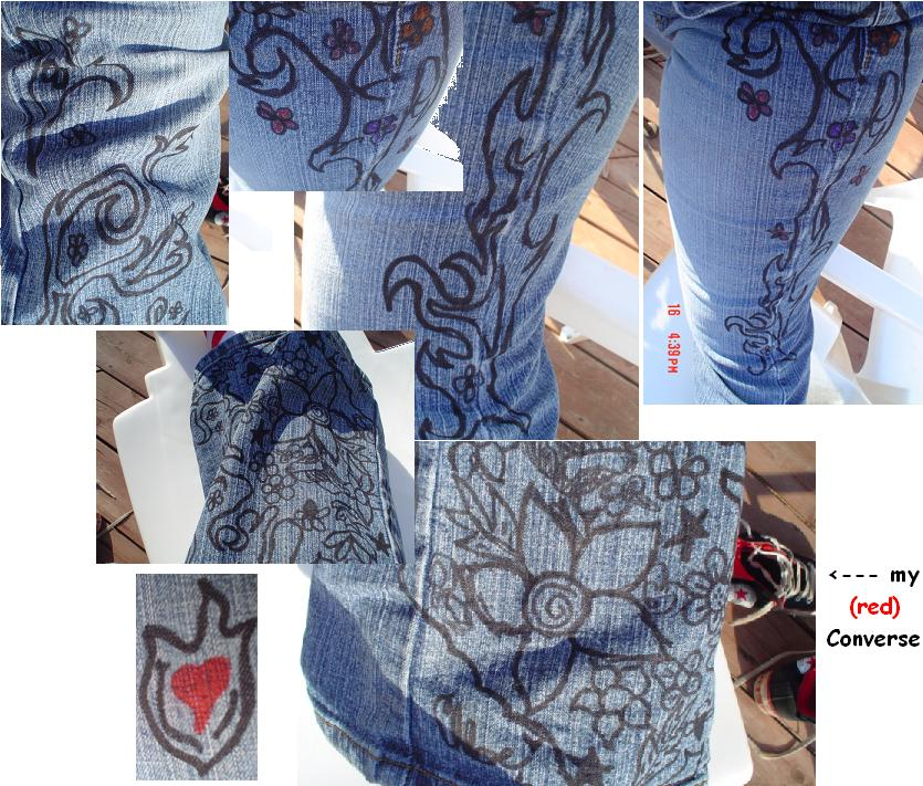 My Custom Jeans by BluSnoBird on DeviantArt