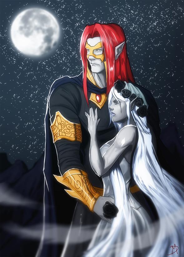 Eilistraee and Vhaeraun Dungeons and Dragons by Madboy-Art