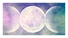 Triple Goddess Stamp by LaCorpse