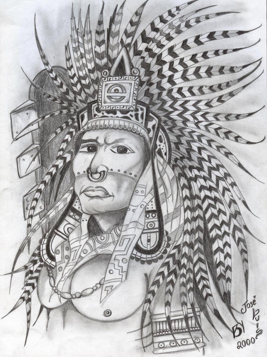 Aztec Warrior by joseluis81 on DeviantArt  Aztec Pencil Drawings