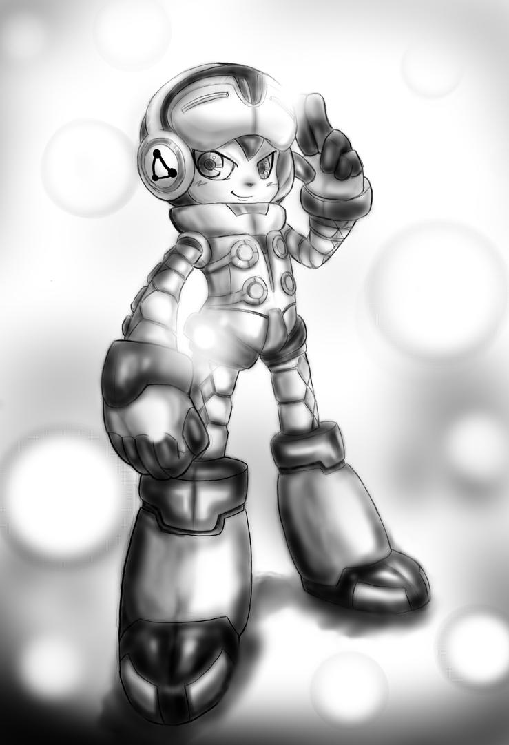 Mighty No. 9- WIP (2) by vlewis123