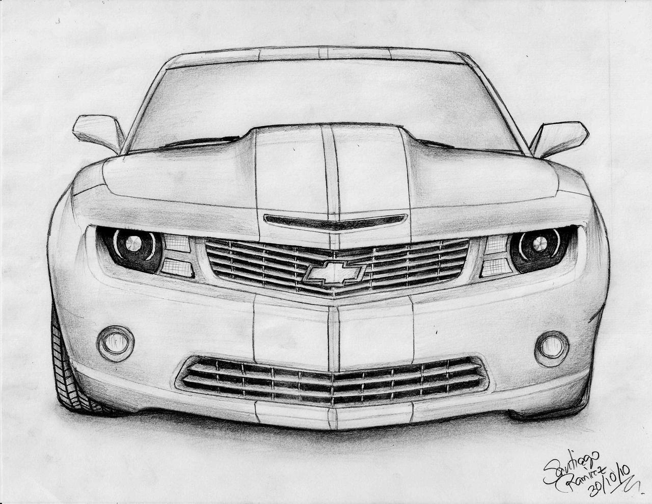 Atractivo Chevrolet Camaro Para Colorear Patrón - Dibujos Para ...
