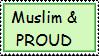Muslim and Proud Stamp by LittleMuslimLady