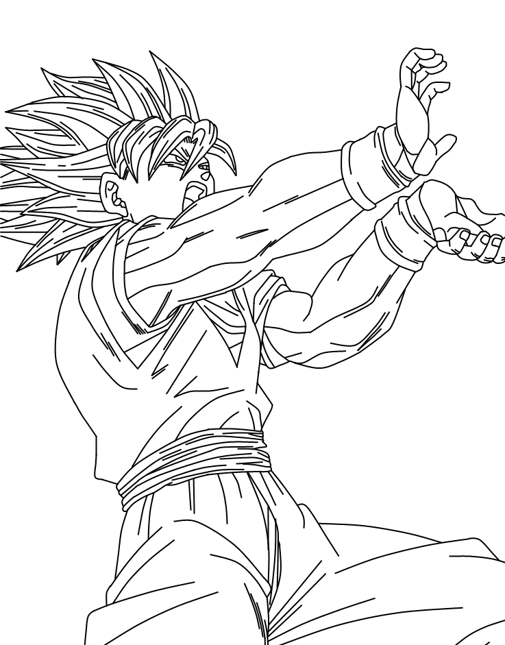 Goku Super Saiyan 2 by SbdDBZ on DeviantArt