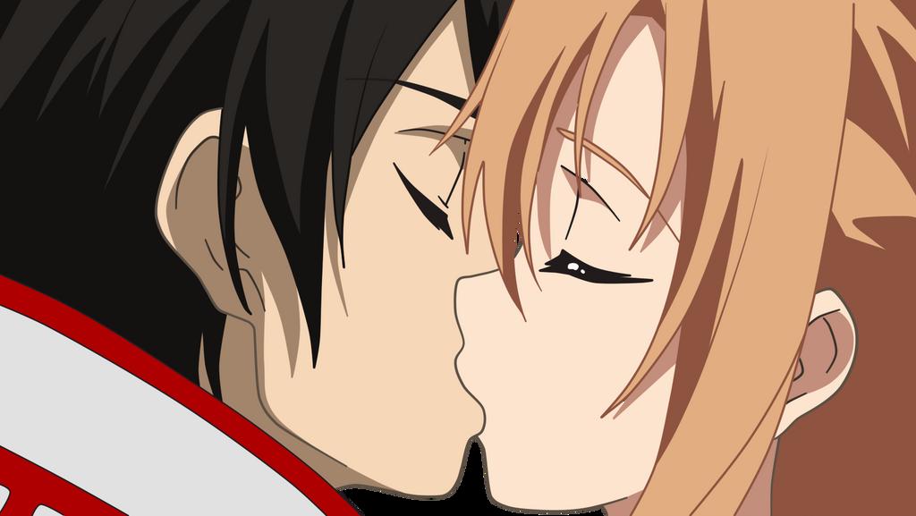 Kirito kiss asuna by sbddbz on deviantart
