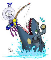 Omnis Fanart - Gone Fishin' by SkarmorySilver