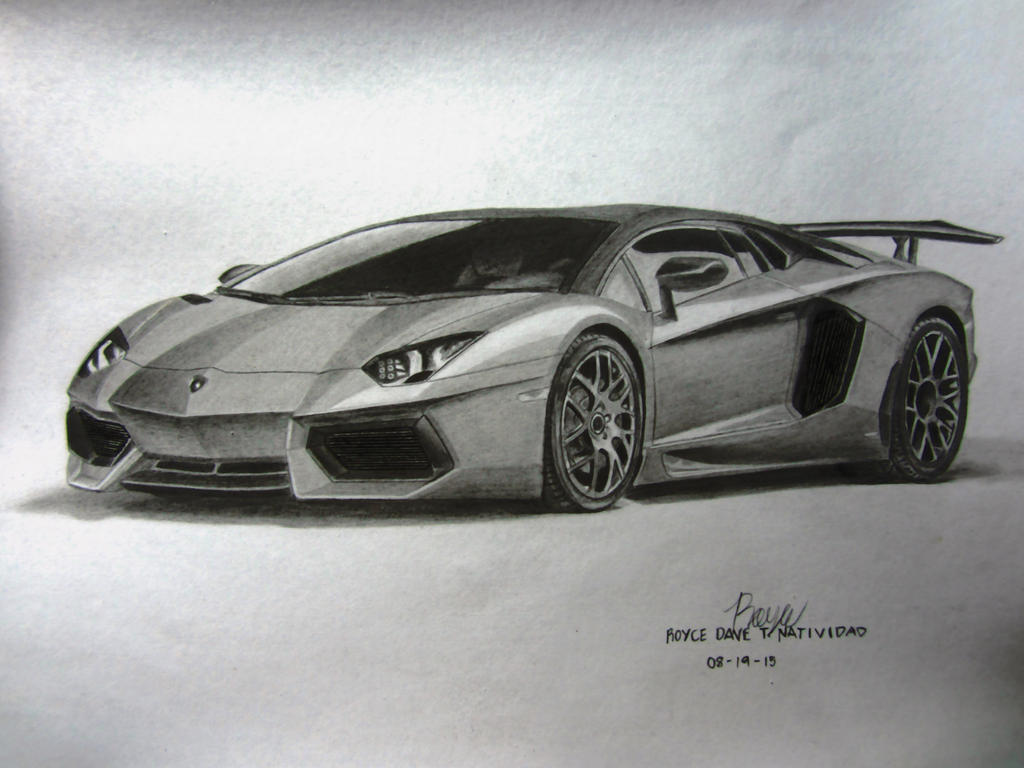My Lamborghini Aventador Graphite Drawing. by VinJiro on ...