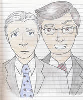 Stewart and Colbert by Tygershadow