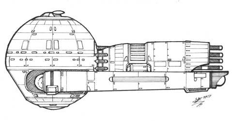 Cargo Transport Tug - Medusan by ShipSchematicsNet