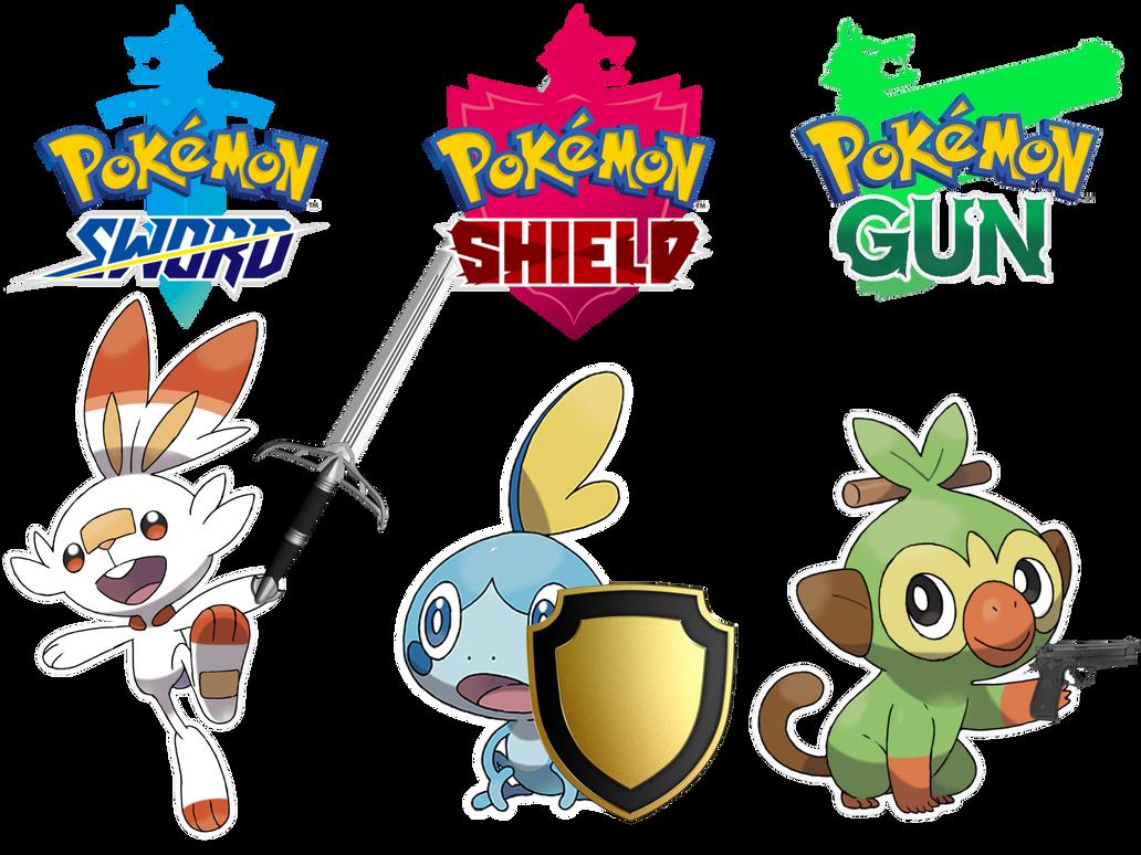 Pokemon Sword Shield And Gun By Thegamerlover On Deviantart
